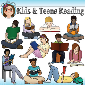 Teens Reading Clipart Worksheets & Teaching Resources.