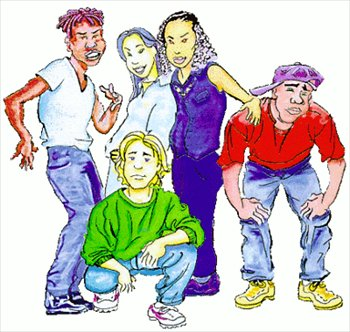 Free clipart images of teenagers.