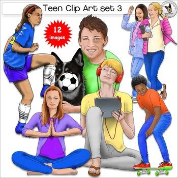 Teen Clip Art Set 3.