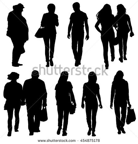 Teen Silhouette Stock Images, Royalty.