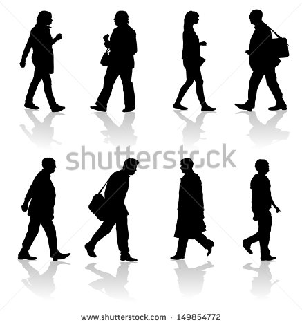 People Walking Stock Images, Royalty.