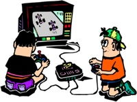 Video game room clipart.