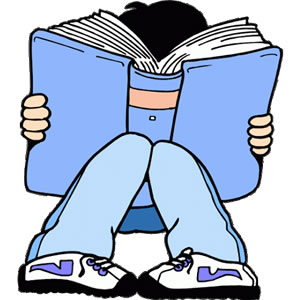 Teens Reading Clipart.
