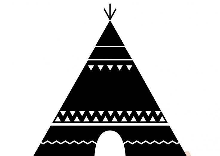 Teepee Clipart Black And White.