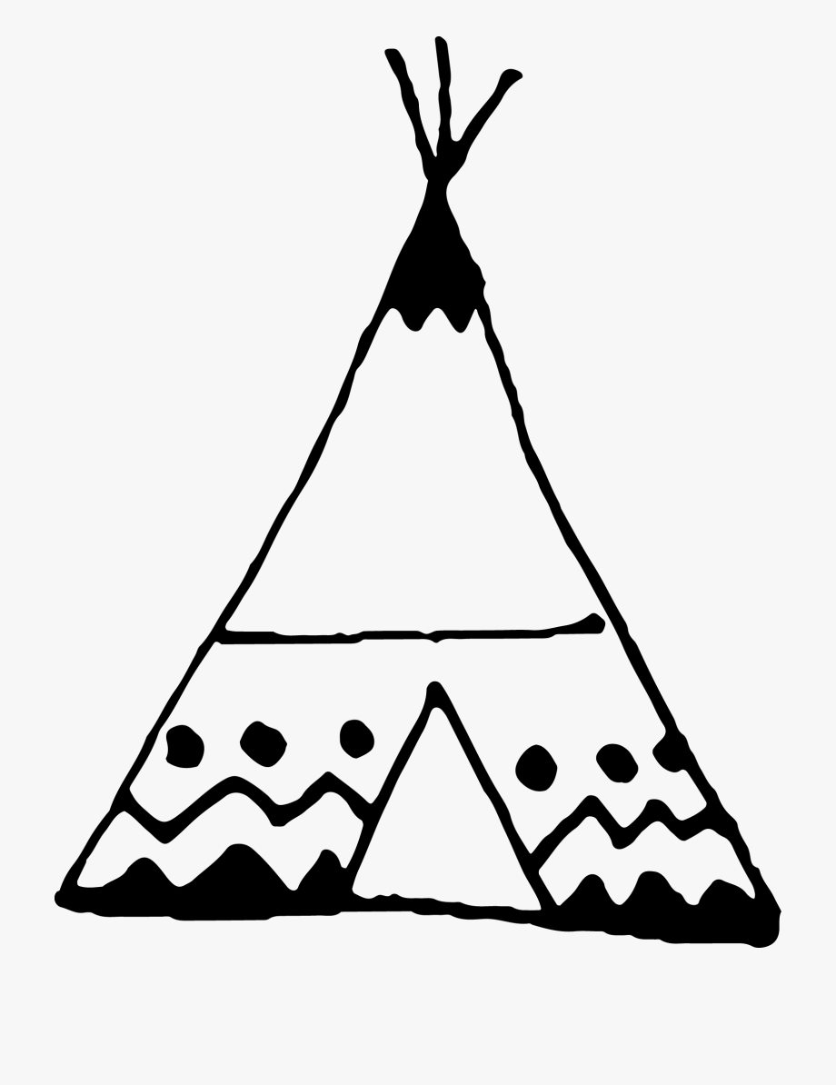 Tipi Drawing Tribal.