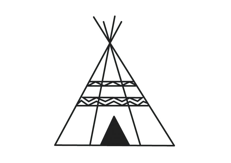 Teepee clipart black and white 5 » Clipart Station.