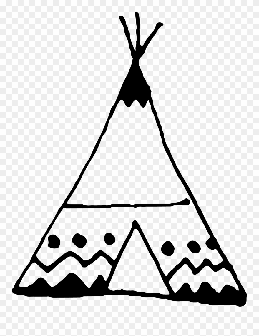 Freeuse Stock Black And White Teepee Clipart.