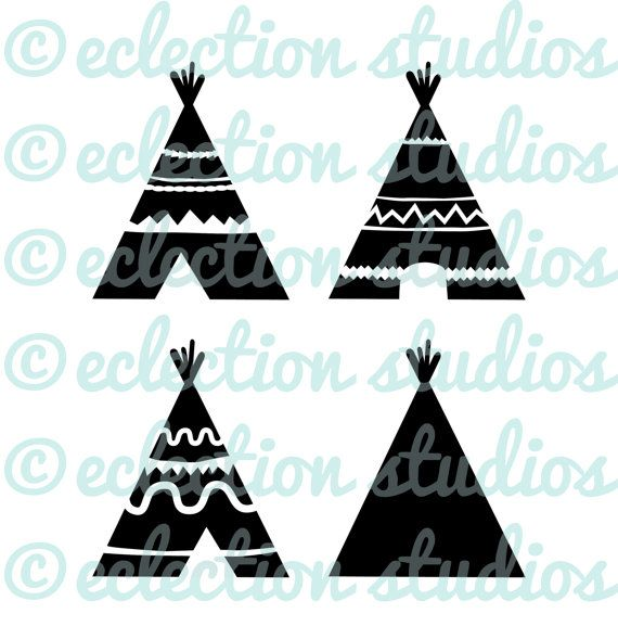 TeePee SVG, Indian, Aztec, TiPi, Native American, Tribe.