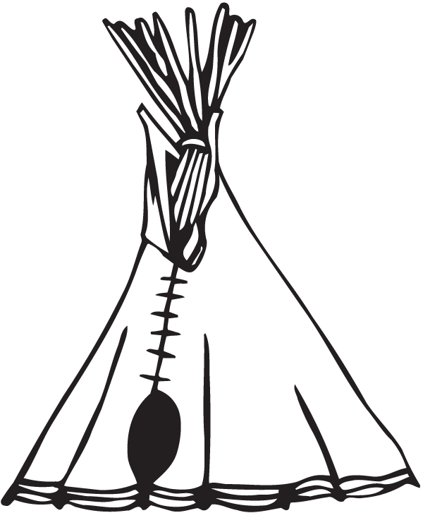 Wall decal Bumper sticker Tipi.