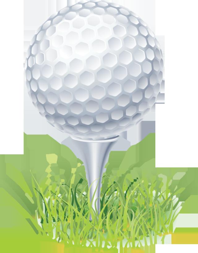 Golf ball on tee clip art.