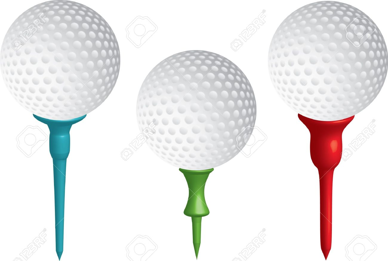 Golf Ball Tee Clipart.