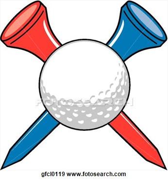 Golf tees clipart.