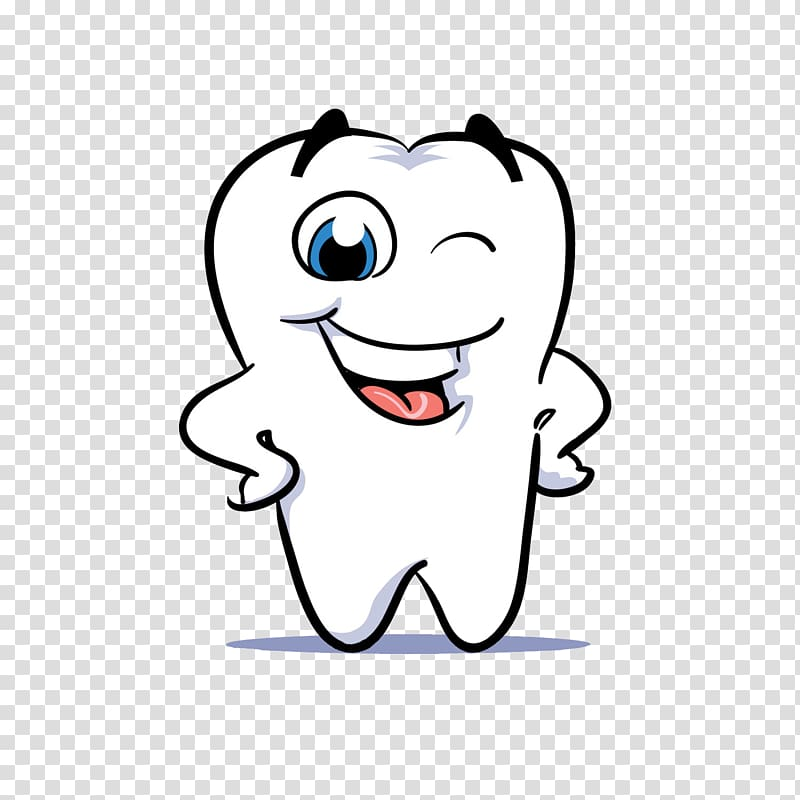 White tooth , Human tooth Dentistry Smile , Cartoon white.