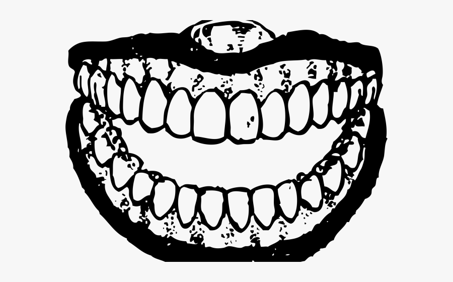 Teeth Clipart Black And White.