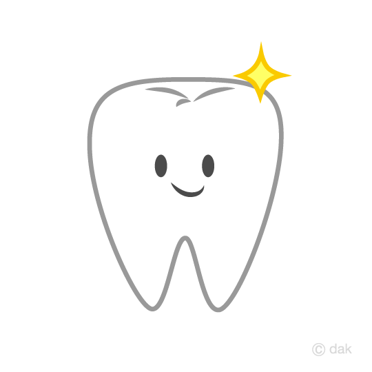 Free cute tooth character clip art image cartoon.