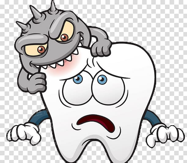 Toothdecay , Tooth decay Dentistry Human tooth Cartoon.