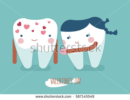 Happy Valentines Day Dental Stock Vector 244996216.