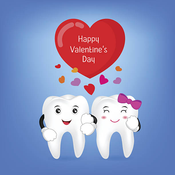 Teeth On Valentines Day Clip Art, Vector Images & Illustrations.