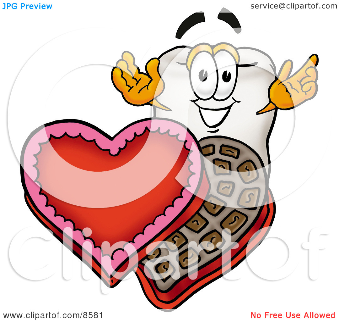 Teeth clipart for valentines day.