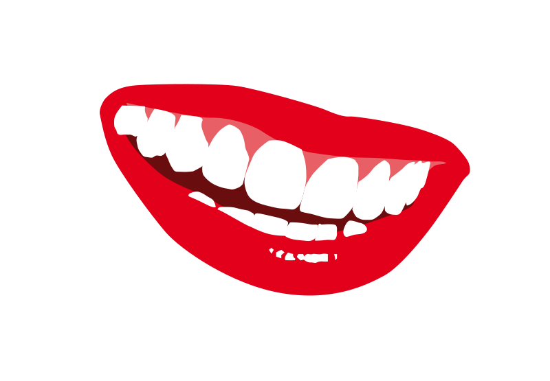 Free Clipart Smile with Teeth.