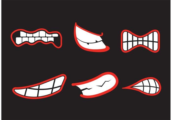 Teeth grinding vectors.