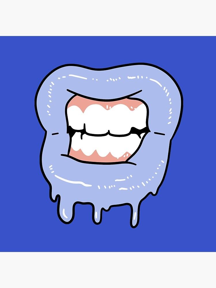 \'Slime Lips Gritted Teeth\' Art Board Print by SaradaBoru.