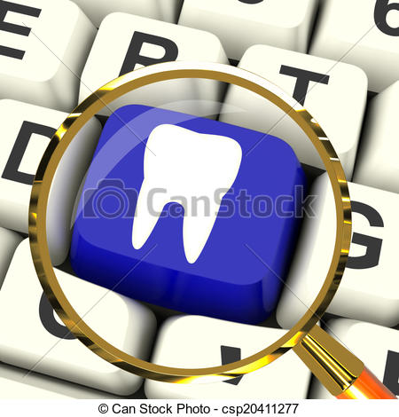 Stock Illustrations of Tooth Key Magnified Means Dental.