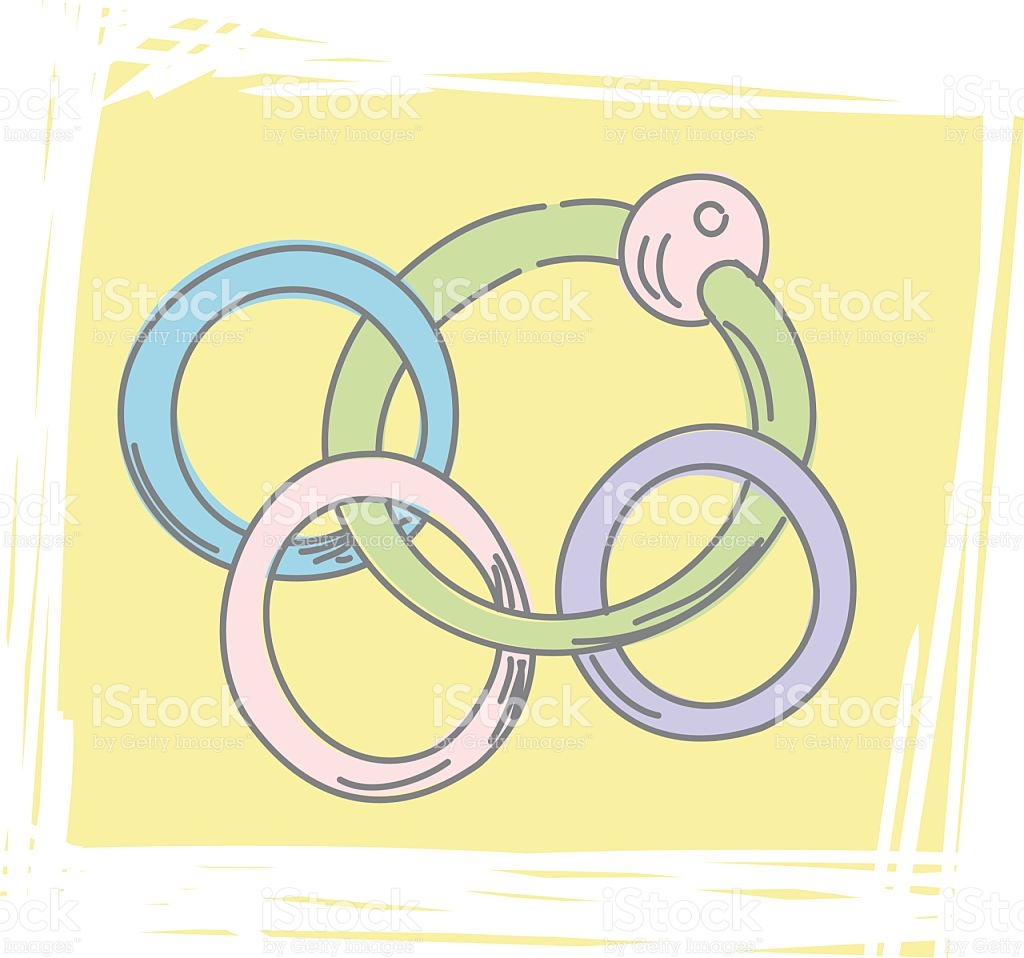 Sketchy Teething Ring Icon stock vector art 164382663.