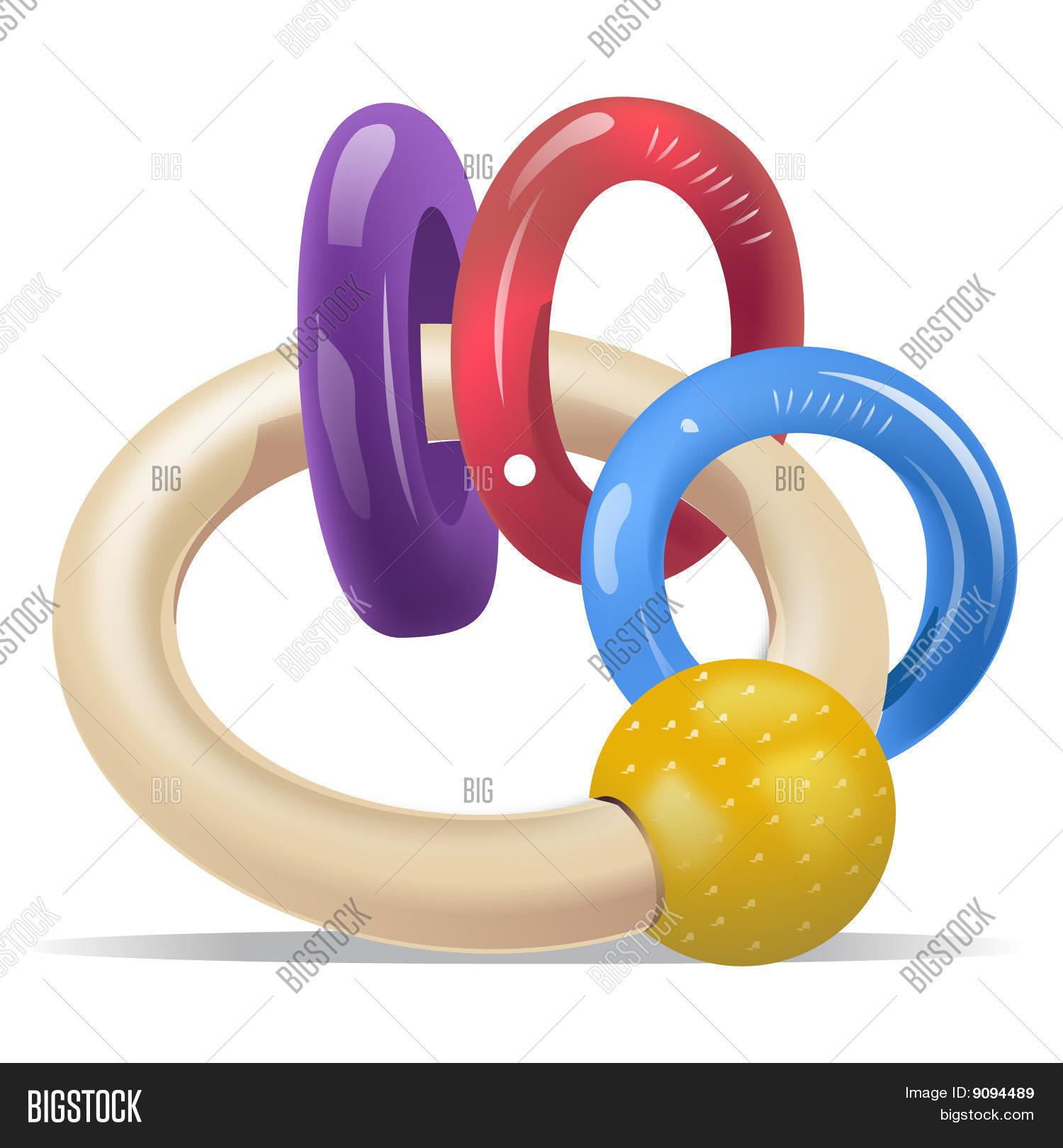 Baby Teething Ring Stock Vector & Stock Photos.