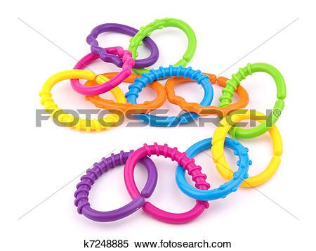 Stock Image of Teething ring on white k7248885.
