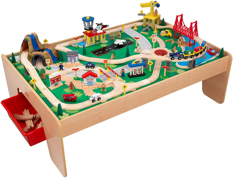 Amazon.com: KidKraft Waterfall Mountain Train Set and Table: Toys.