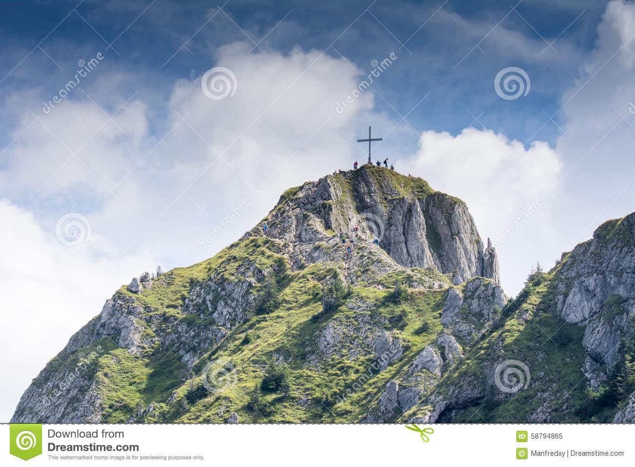 Hiking At Mount Tegelberg Editorial Image.