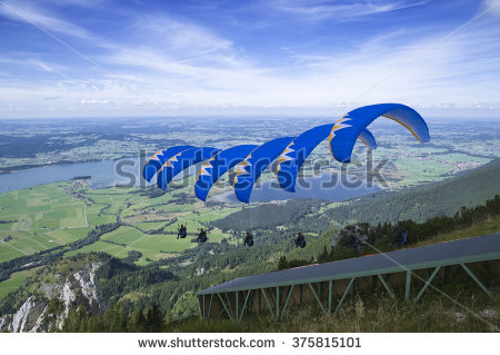 Paraglide Site Stock Photos, Royalty.