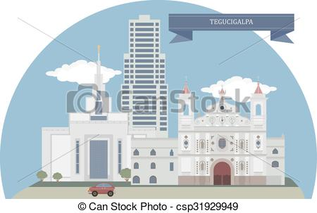 EPS Vector of Tegucigalpa, Honduras.