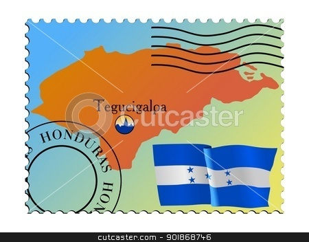 Tegucigalpa is a capital city of Honduras stock vector.