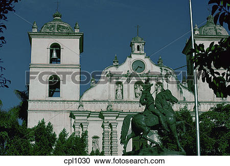 Stock Photography of Church in Tegucigalpa cpl1030.