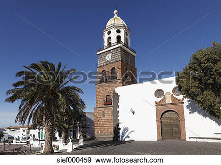 Stock Photograph of Spain, Canary Islands, Lanzarote, Teguise.