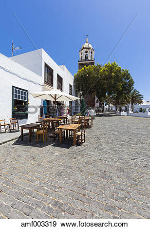Stock Photograph of Spain, Canary Islands, Lanzarote, Teguise, Old.