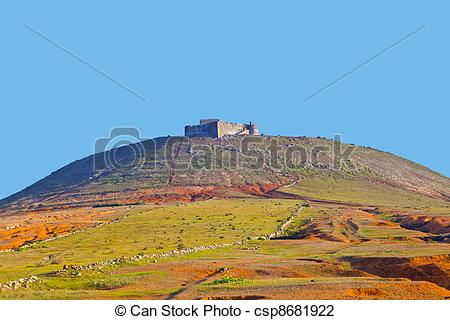 Stock Photo of Santa Barbara of Guanapay Castle at Teguise.