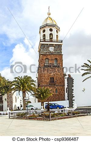 Picture of Teguise, Lanzarote, Canary Island, Church Iglesia de.