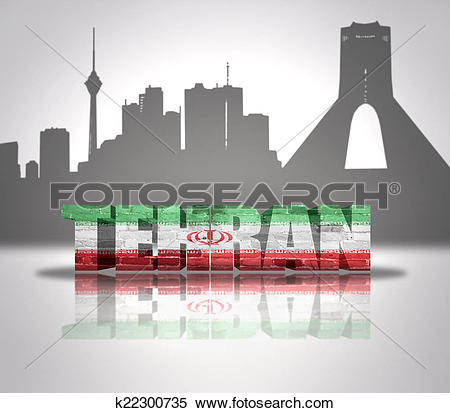 Stock Image of View of Tehran k22300735.