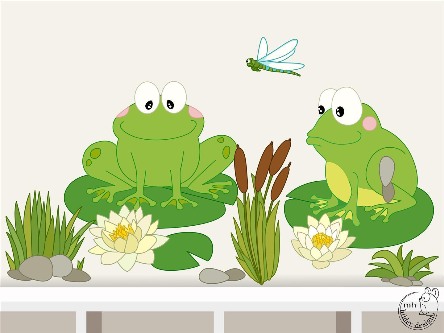 Wandtattoo Teich Frosch für Kinderzimmer babyzimmer von MHBilder.