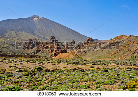Stock Photography of A view of volcano Mount Teide, in Teide.