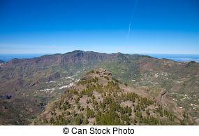 Stock Photography of Gran Canaria, Caldera de Tejeda, clouds.