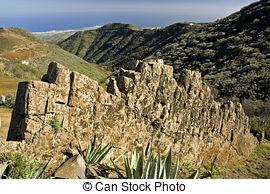 Stock Photography of Gran Canaria, Caldera de Tejeda, January.