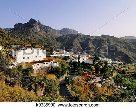 Stock Photography of Tejeda, Gran Canaria, Canary Islands, Spain.