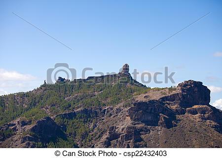 Stock Photography of Gran Canaria, Caldera de Tejeda, both Roque.