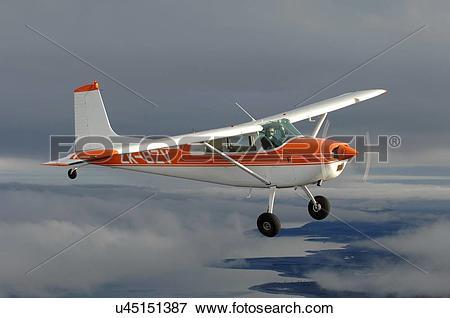 Picture of Cessna 180 over Lake Tekapo u45151387.