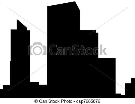 Stock Illustrations of Tel Aviv silhouette.