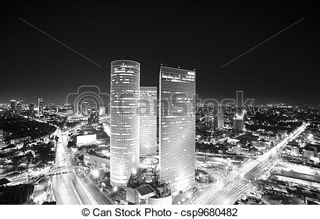 Stock Photo of Tel Aviv skyline at.